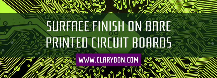 Surface finish on bare printed circuit boards